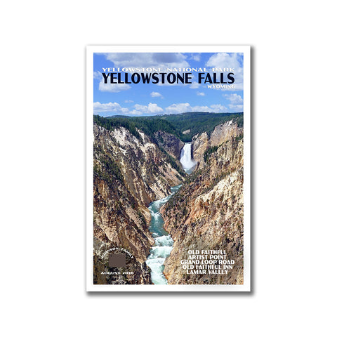 Personalized Yellowstone National Park Poster from Just Go Travel Studios