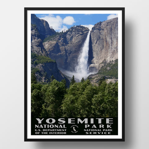 Yosemite National Park WPA style poster