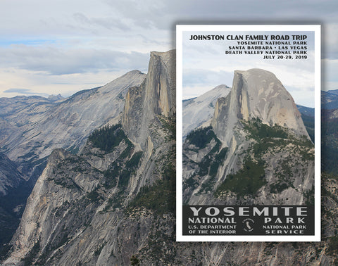 Yosemite National Park Poster created from a photo