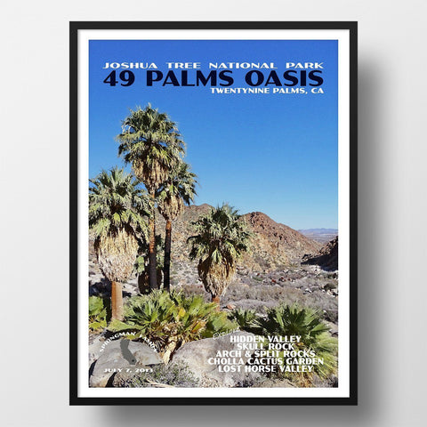 Joshua Tree National Park Poster-49 Palms Oasis (Personalized)