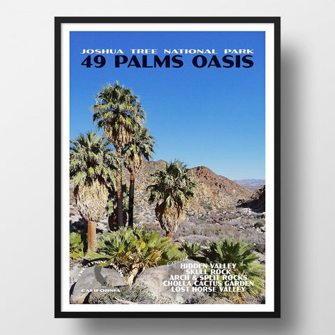 Joshua Tree National Park Poster-49 Palms Oasis