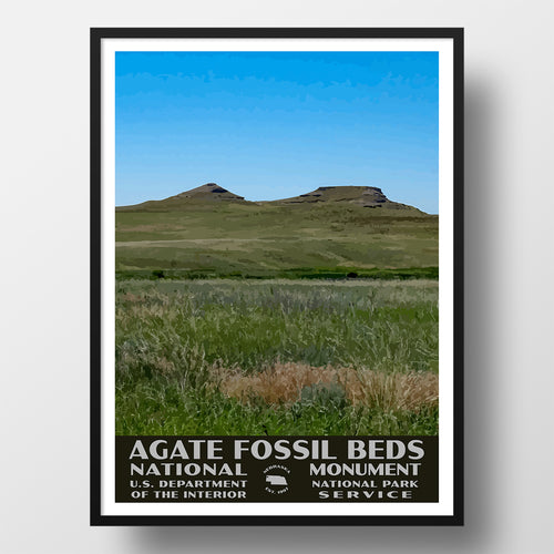 Agate Fossil Beds National Monument Poster WPA