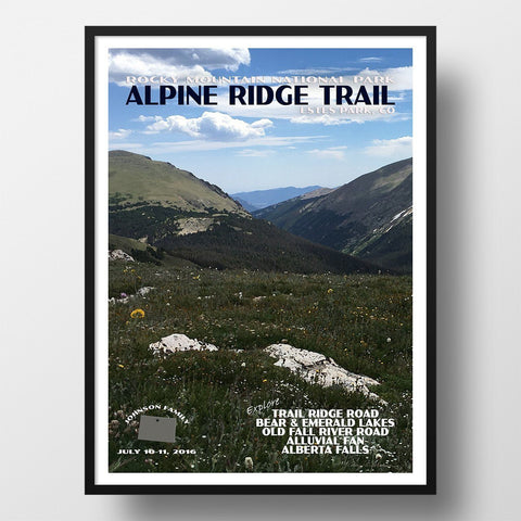Rocky Mountain National Park Poster-Alpine Ridge Trail (Personalized)