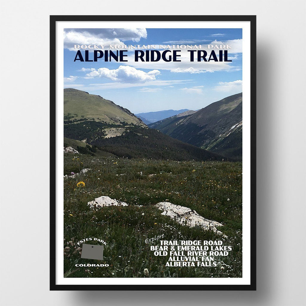 Rocky Mountain National Park Poster-Alpine Ridge Trail