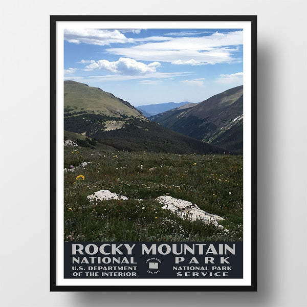 Rocky Mountain National Park Poster, WPA Style, Alpine Ridge Trail