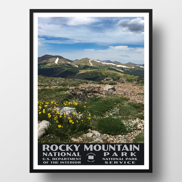 Rocky Mountain National Park Poster-WPA (View from Trail Ridge Road)
