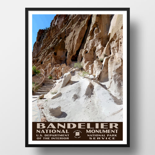 Bandelier National Monument poster