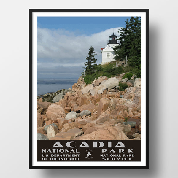 WPA style poster, Acadia National Park