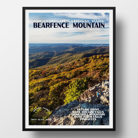 Shenandoah National Park Poster-Bearfence Mountain (Personalized)
