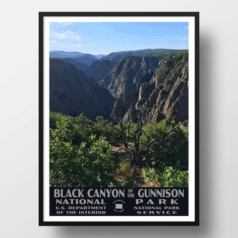 Black Canyon of the Gunnison National Park Poster, WPA Style
