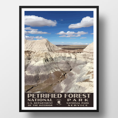 Petrified Forest National Park Poster Blue Mesa