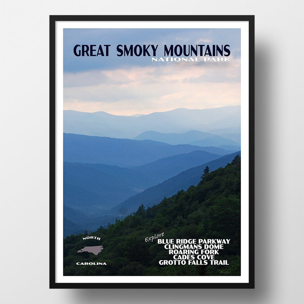 Great Smoky Mountains National Park Poster-Great Smoky Mountains