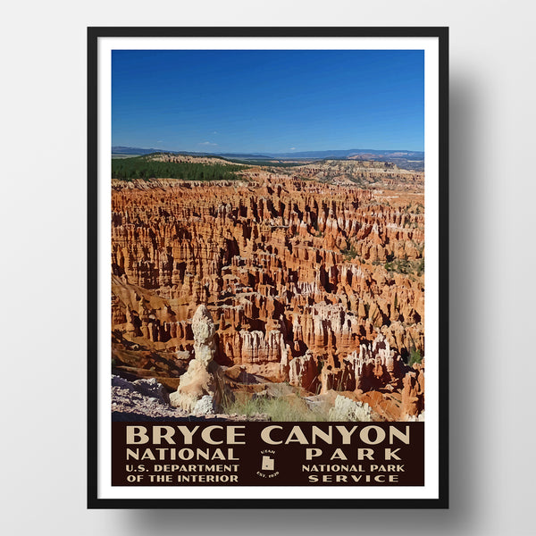 Bryce Canyon National Park Poster of the Amphiteater (WPA Style)