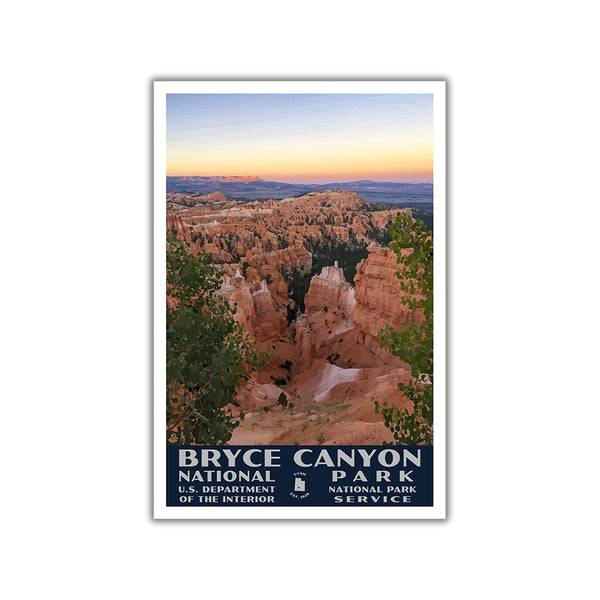Bryce Canyon National Park Poster-WPA (Sunset Point)