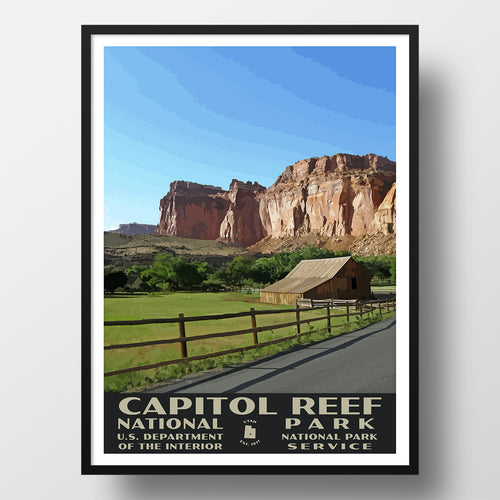Capitol Reef National Park Poster of the Gifford Homestead (WPA Style)