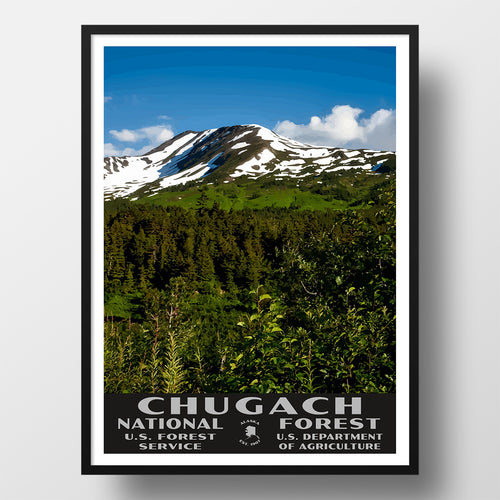 Chucach National Forest Poster