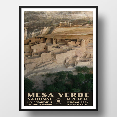Mesa Verde National Park Poster, WPA Style