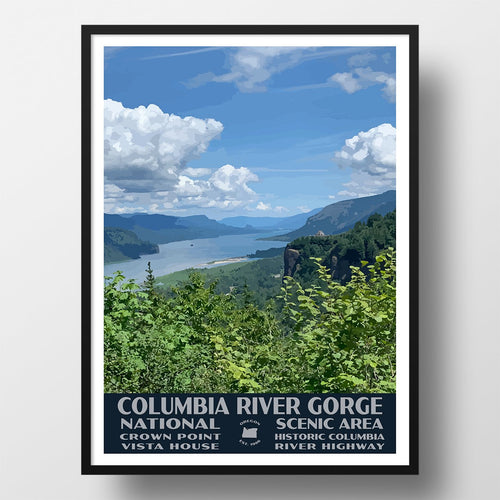 Columbia River National Scenic Area Poster-WPA (Columbia River Gorge)