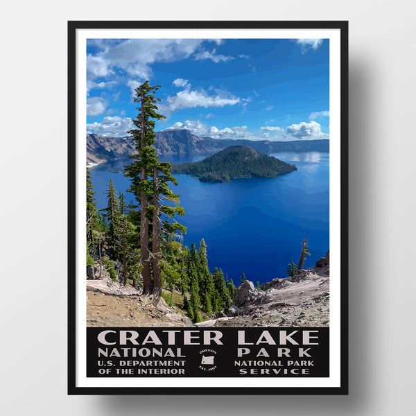 Crater Lake National Park Poster-WPA (Crater Lake)