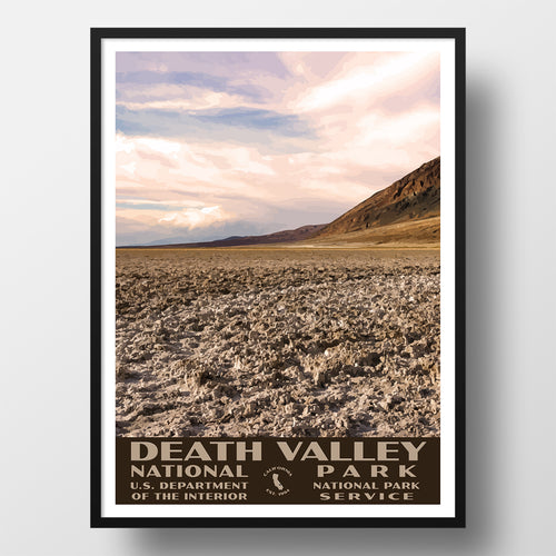 Death Valley National Park Poster Badwater