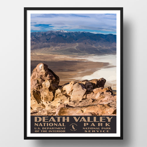 Death Valley National Park Poster Dantes View