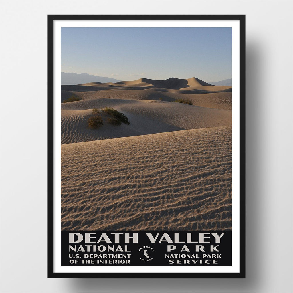 Death Valley National Park Poster, WPA Style, Mesquite Flat Sand Dunes