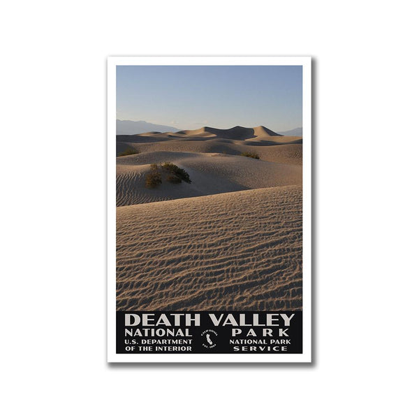 Death Valley National Park Poster-WPA (Mesquite Flat Sand Dunes)
