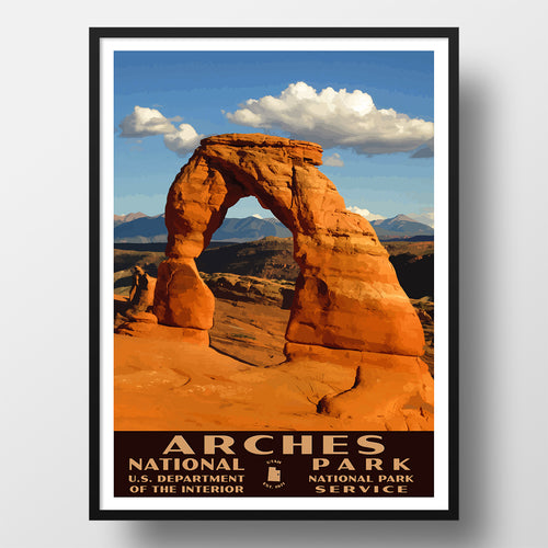 Arches National Park Poster, WPA Style, Delicate Arch