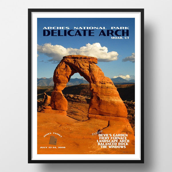 Arches National Park Poster-Delicate Arch (Personalized)