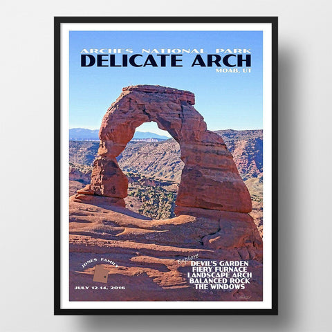 Arches National Park Poster-Delicate Arch in the Morning (Personalized)