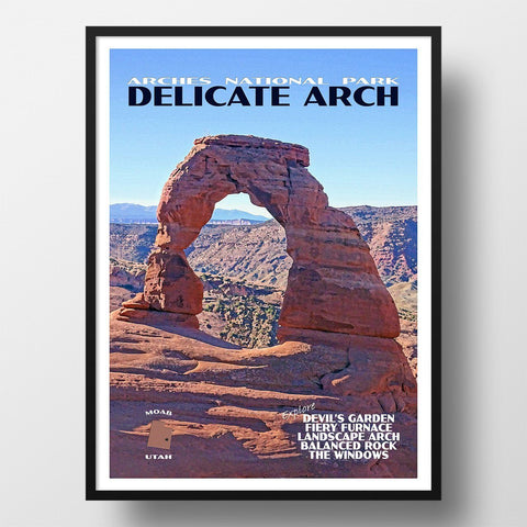 Arches National Park Poster-Delicate Arch