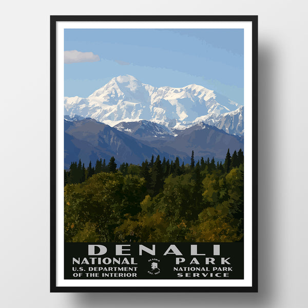 Denali national park and preserve poster wpa