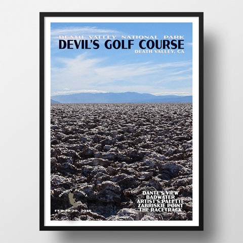 Death Valley National Park Poster-Devil's Golf Course (Personalized)