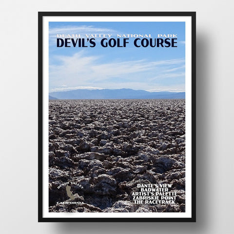 Death Valley National Park Poster-Devil's Golf Course