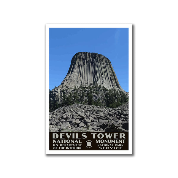 Devils Tower National Monument Poster (WPA Style)