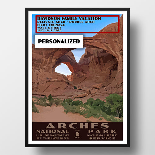Arches National Park Poster Double Arch