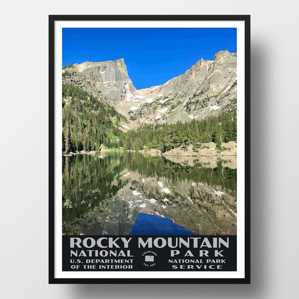 Rocky Mountain National Park Poster (Dream Lake)