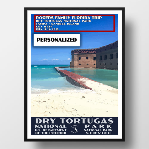 Dry Tortugas National Park poster WPA style