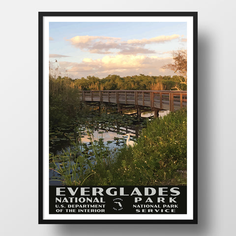 Everglades National Park Poster of the Anhinga Trail (WPA Style)