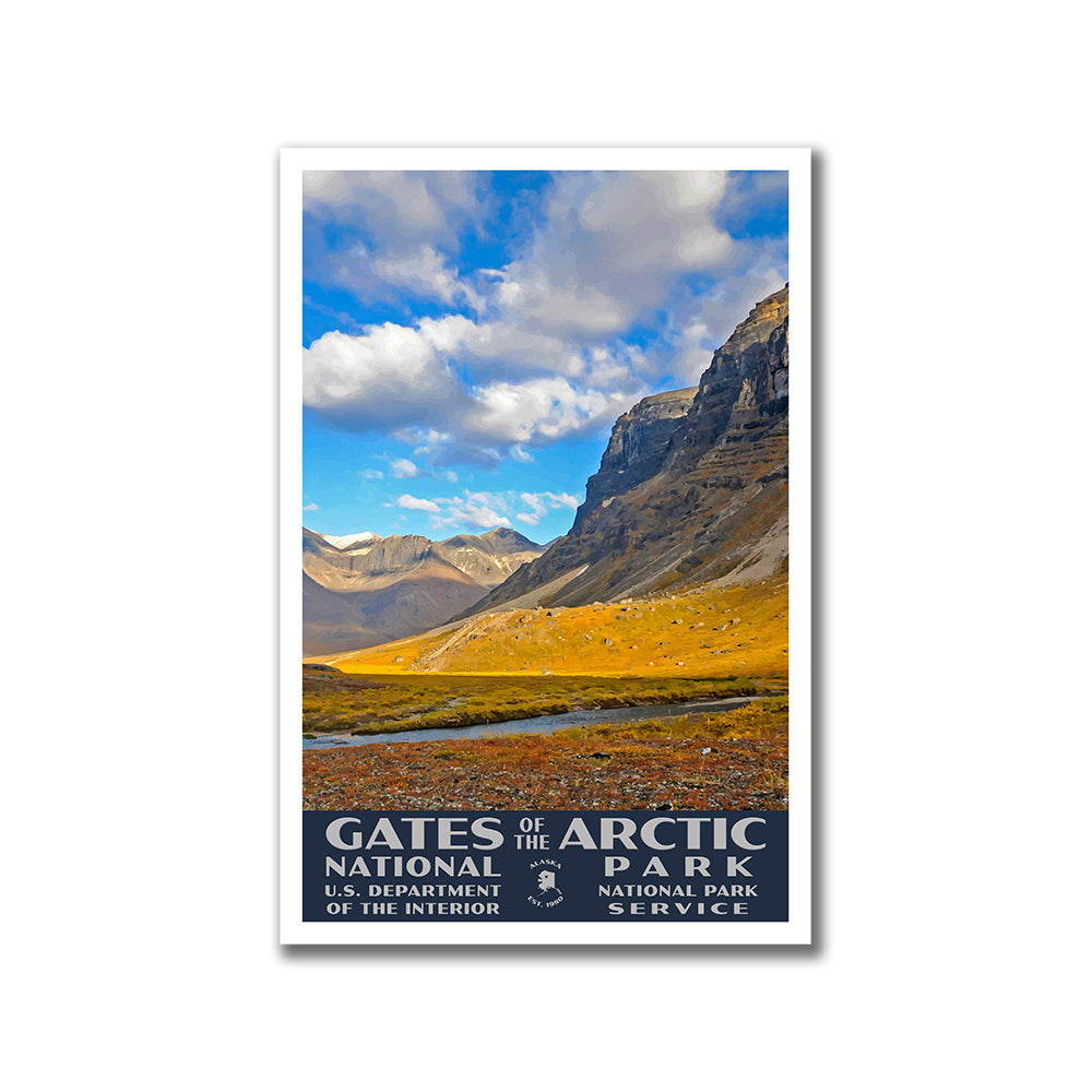 Gates of the Arctic National Park WPA-Style Vintage Travel Poster 12x18 Alaska