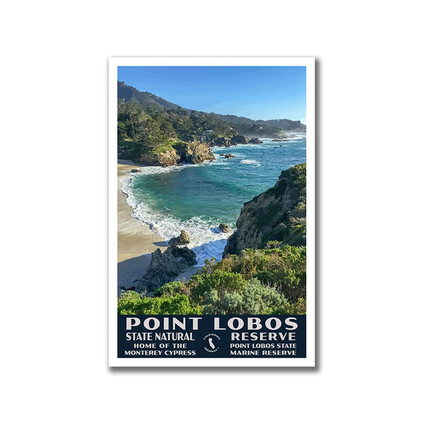 Point Lobos State Park WPA Poster, Gibson Beach