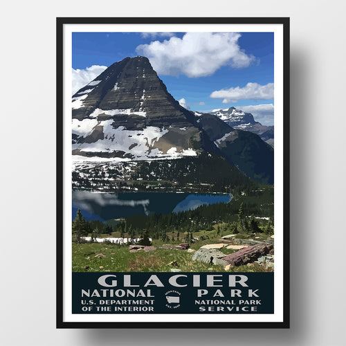 Glacier National Park Poster Hidden Lake