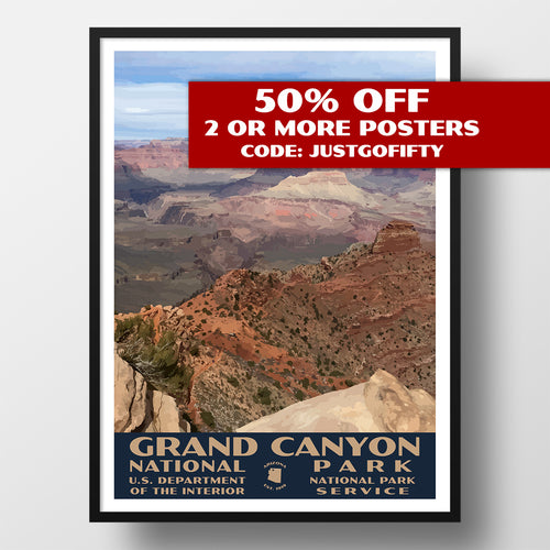 Grand Canyon National Park Poster, WPA Style, Grandview Point