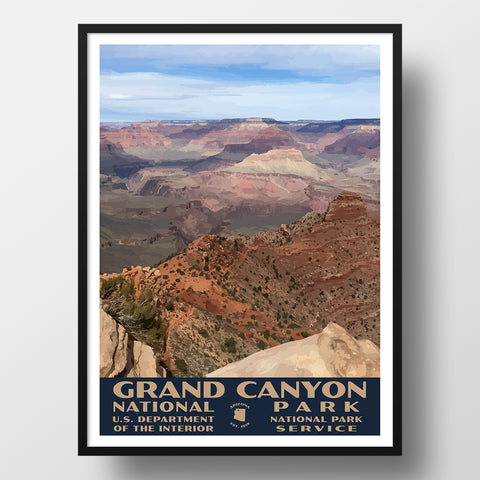 Grand canyon national park poster wpa style