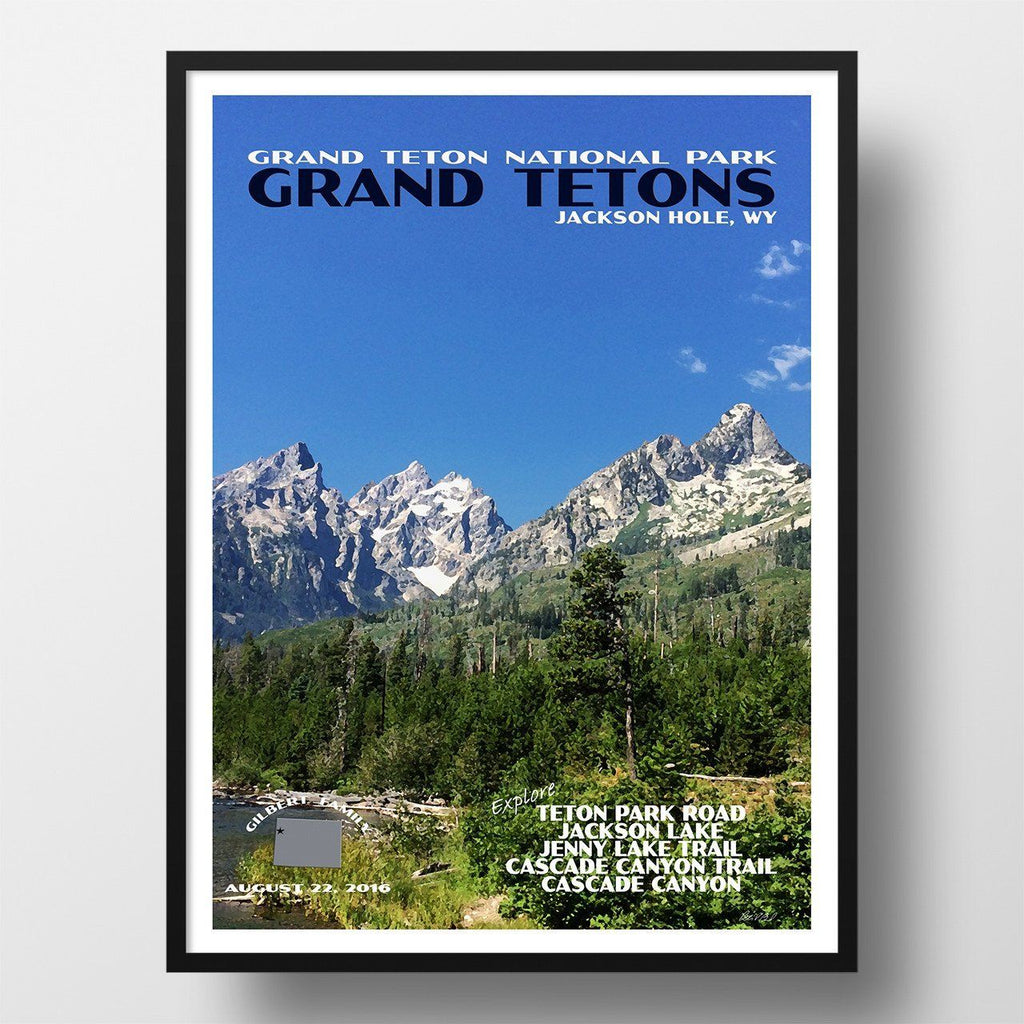 Grand Teton National Park Poster-Grand Tetons (Personalized)
