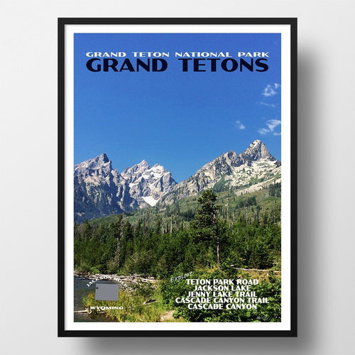 Grand Teton National Park Poster-Grand Tetons