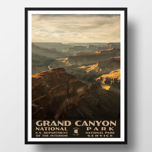 Grand canyon national park poster wpa style, grandview point