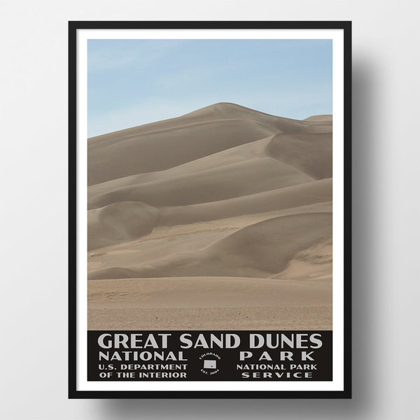 Great Sand Dunes National Park Poster, WPA Poster