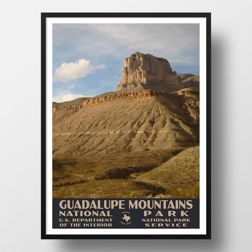 Guadalupe Mountains National Park Poster WPA El Capitan