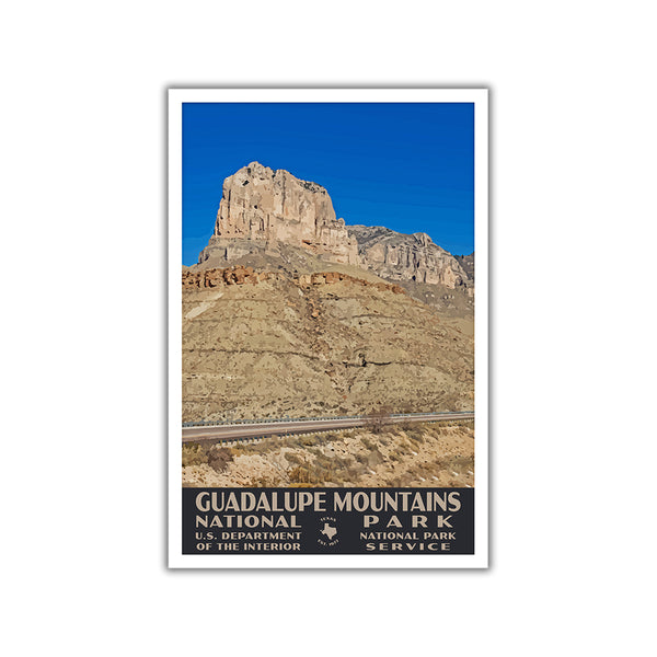 Guadalupe Mountains National Park Poster-WPA